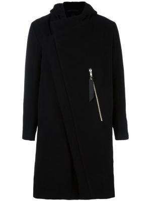 Zip up hooded coat Odeur. Цвет: чёрный