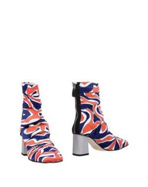 Полусапоги и высокие ботинки LUCA VALENTINI. Цвет: темно-синий