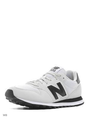 Кроссовки NEW BALANCE 500. Цвет: белый