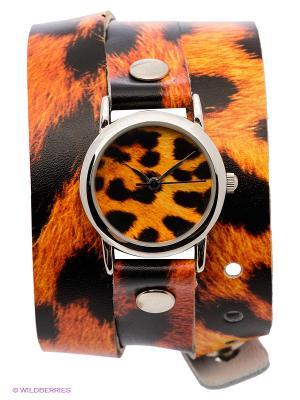 Часы DenisMart. Цвет: черный, оранжевый