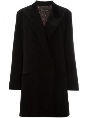 Однобортное пальто Ter Et Bantine. Цвет: чёрный