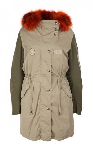 Куртка History Repeats by Femme. Цвет: хаки
