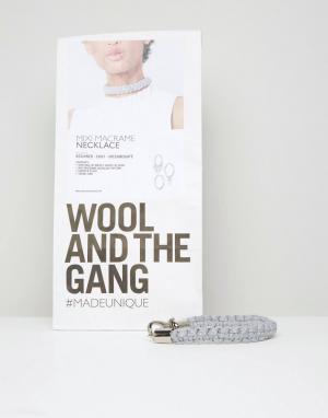Wool and the Gang Набор для создания ожерелья-чокер своими руками & DIY Mi. Цвет: серый