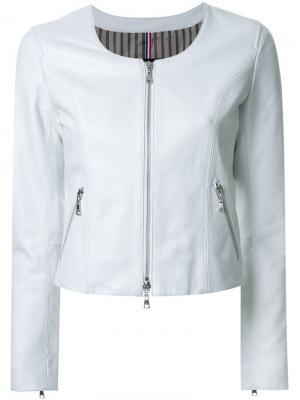 Куртка на молнии без воротника Guild Prime. Цвет: белый