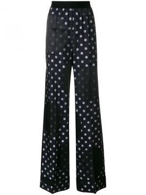 Polka dot print trousers Maison Margiela. Цвет: синий
