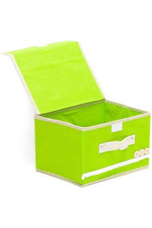 Коробочки для хранения 2шт. HOMSU. Цвет: зеленый