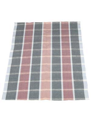 Набор полотенец полулен Римейн. Цвет: серый,розовый