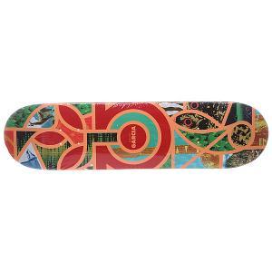 Дека для скейтборда  S5 Garcia Melange 32.25 x 8.0 (20.3 см) Habitat. Цвет: красный,оранжевый,зеленый