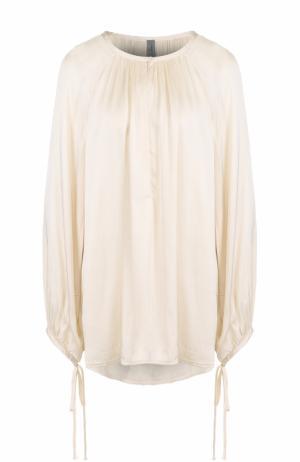 Блуза свободного кроя с круглым вырезом Raquel Allegra. Цвет: белый
