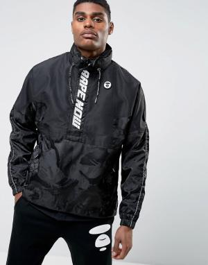 AAPE BY A BATHING APE Куртка с короткой молнией. Цвет: черный