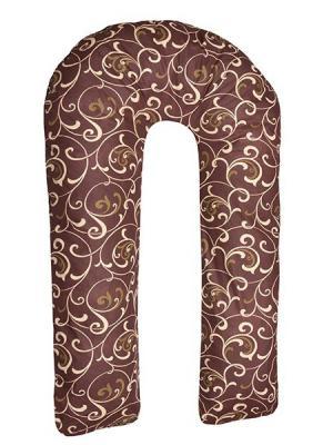 Подушка для беременных Здоровье и комфорт. Цвет: темно-коричневый, желтый