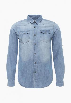Рубашка джинсовая LC Waikiki. Цвет: голубой