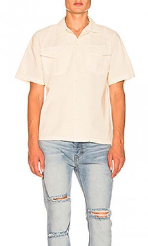 Рубашка ridgway Deus Ex Machina. Цвет: белый