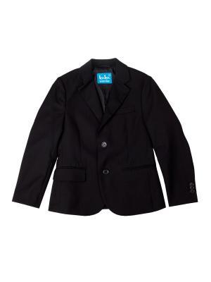 Пиджак Button Blue. Цвет: черный