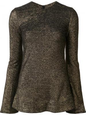 Блузка с расклешенными рукавами Ellery. Цвет: металлический