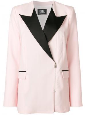 Блейзер Summer на молнии Karl Lagerfeld. Цвет: розовый и фиолетовый