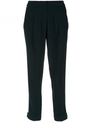 Contrasting side stripes trousers Egrey. Цвет: синий