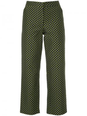 Укороченные брюки в точку N Duo. Цвет: чёрный