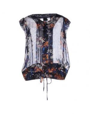 Блузка EXTE. Цвет: темно-синий
