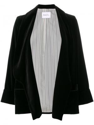 Свободный пиджак Racil. Цвет: чёрный