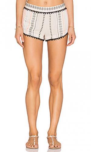 Миниатюрные шорты с вышивкой Gypsy 05. Цвет: ivory