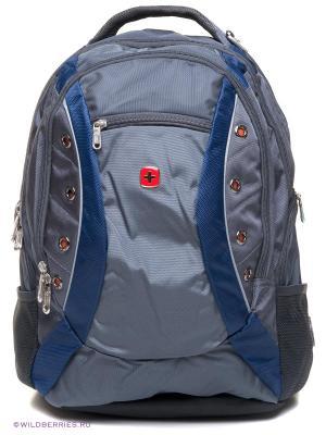 Рюкзак WENGER. Цвет: темно-синий, темно-серый