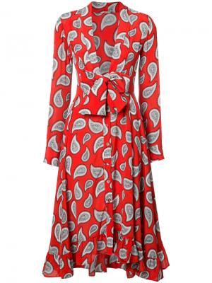 Платье с бантом спереди Dodo Bar Or. Цвет: красный