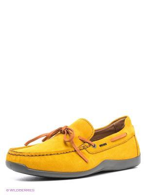 Мокасины GEOX. Цвет: желтый