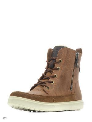 Ботинки ECCO. Цвет: коричневый, светло-коричневый