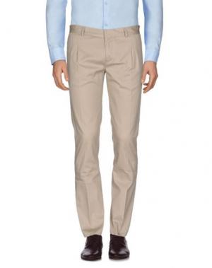 Повседневные брюки GREY DANIELE ALESSANDRINI. Цвет: бежевый