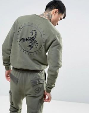 Cayler & Sons Свитшот с вышитым скорпионом на спине. Цвет: зеленый