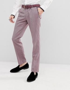 Noose & Monkey Супероблегающие брюки в стиле смокинга. Цвет: фиолетовый
