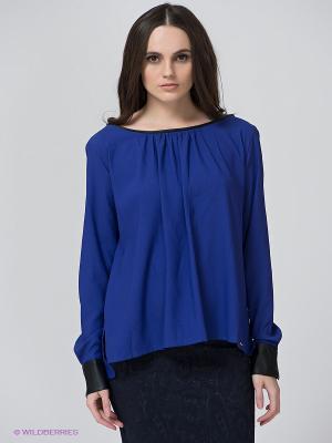 Блузка BSB. Цвет: индиго