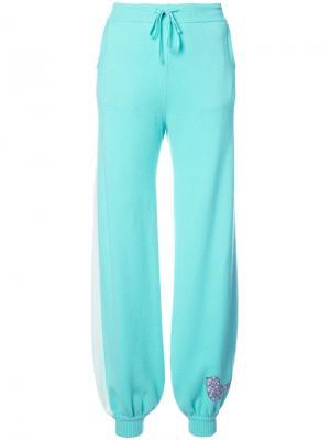 Спортивные брюки с птицей Natasha Zinko. Цвет: зелёный