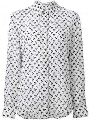 Рубашка с принтом вишен Altuzarra. Цвет: белый