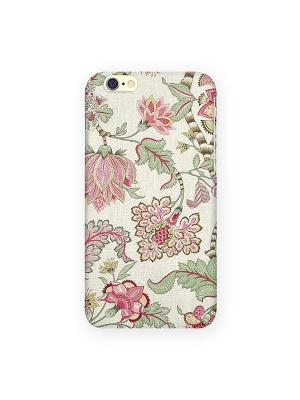 Чехол для IPhone 6 Розовые лотосы Mitya Veselkov. Цвет: бежевый, черный