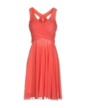 Короткое платье MUSANI COUTURE. Цвет: коралловый