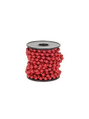 Бусы декоративные, 5м, d7мм, пластик, 3 цвета (VG-2, VR-1, VS) СНОУБУМ. Цвет: красный