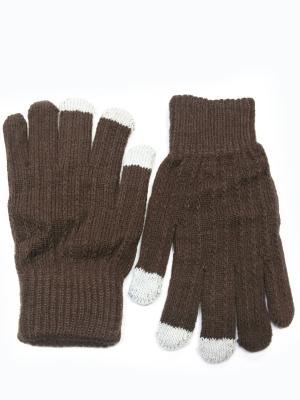 Перчатки для сенсорных экранов HOBBY LINE. Цвет: коричневый