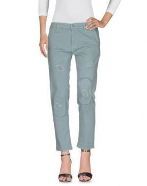 Джинсовые брюки DENNY ROSE. Цвет: серый