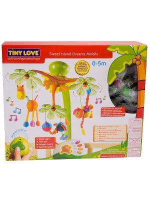 Музыкальный мобиль Остров сладких грез Tiny Love. Цвет: салатовый, оранжевый