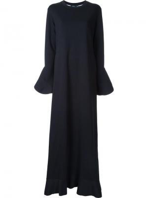 Длинное платье с оборками Goen.J. Цвет: чёрный