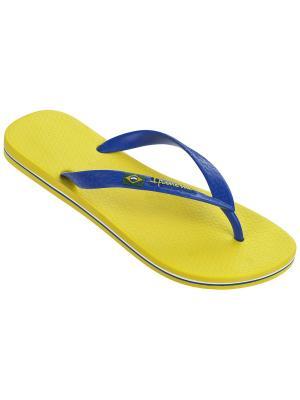 Шлепанцы Ipanema. Цвет: желтый, темно-синий