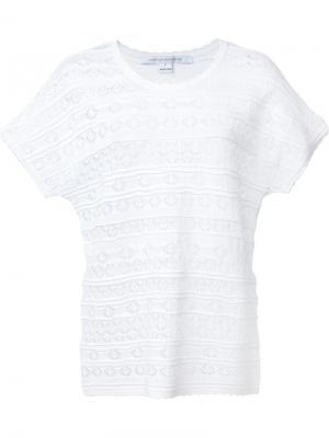 Трикотажная футболка Diane Von Furstenberg. Цвет: белый
