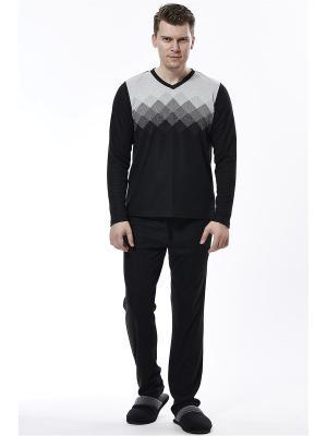 Пижама с брюками RELAX MODE. Цвет: черный