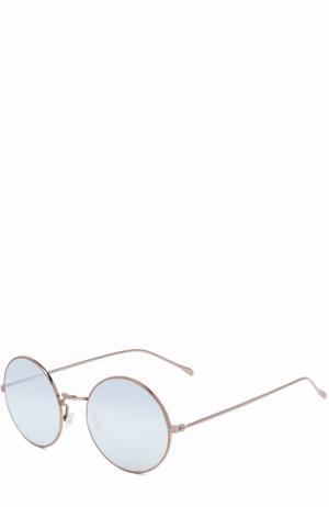 Солнцезащитные очки Illesteva. Цвет: серебряный