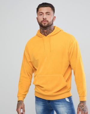 ASOS Oversize-худи из велюра желтого цвета. Цвет: желтый