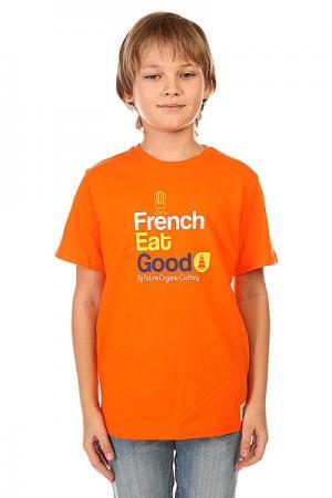 Футболка детская  Diner Orange Picture Organic. Цвет: оранжевый
