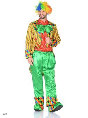 Карнавальный костюм Клоун Кеша желтый Батик. Цвет: желтый