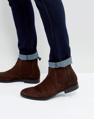Dead Vintage Коричневые кожаные ботинки челси. Цвет: коричневый